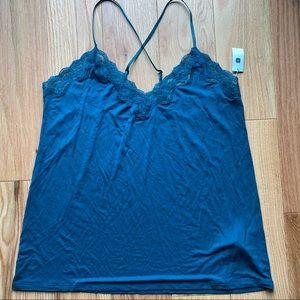 Gap Body PureBody Lace Trim Sleep Cami